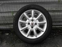 New Rover Alloy Wheel and Tyre