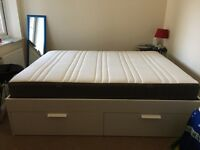 King size Ikea bed - bought in Feb. 2016 - new