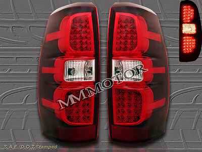07-13 Chevy Avalanche LS LT LTZ Pickup Red LED Tail Lights New