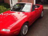 1993 Mazda MX-5 Miata Red Convertible