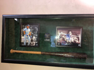 "Baseball Bat , ball , 2 - 8x10"" photo frame LOCKABLE flip open"