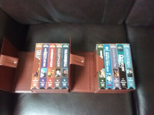 10 James Bond VHS tapes with cases.