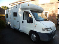 Pilote Challenger, 1999, 4 Berth, Fiat 1.9 Diesel, Left Hand Drive, FIXED BED!