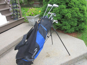 Mens Left Hand 9-pc Golf Clubs Set (Rawlings Big Stick) & Bag