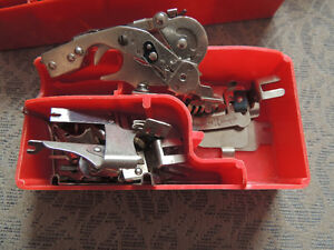 White Button Hole Maker, attatchments  and 2 cases London Ontario image 9