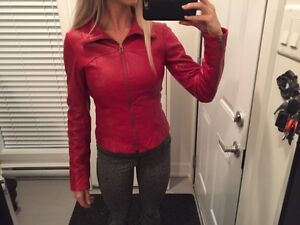 Real leather jacket - red - fall jacket - woman Gatineau Ottawa / Gatineau Area image 3