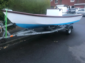 16ft centre console boat, 30hp Mariner and trailer