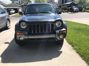 Black 2003 Jeep Liberty Reaged SUV, Crossover