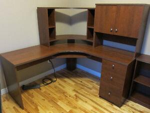 Home Office Desk. PC, Laptop Desk, 4 Pieces