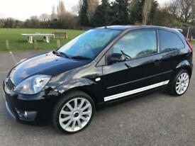 FORD FIESTA ST 2006 REG IN BLACK WITH TWO TONE RED/BLACK LEATHER 150 BHP