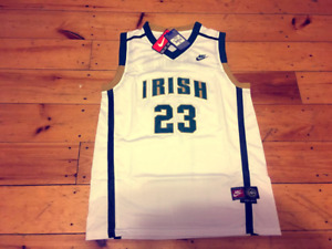 Collectors LBJ High School NIKE- St. Vincent IRISH -WHITE! NEW