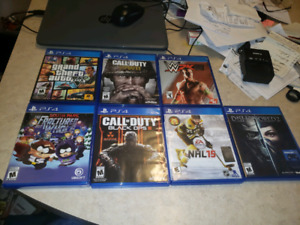 PS4 Games and 1 controller