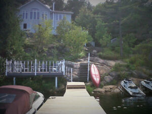 Georgian Bay Waterfront 2500 sq ft Home / Cottage on 2.4 acres