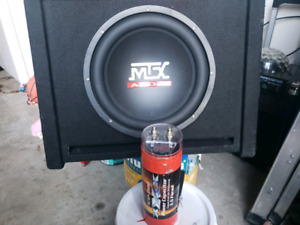 "Mtx 12"" subwoofer and capacitor included"