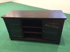 Beautiful IKEA tv console with glass doors in great condition