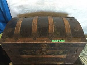 Very old 1800's chest trunk $75