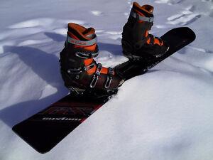 Planche à neige et bottes