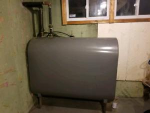 Oil/hot water furnace boiler