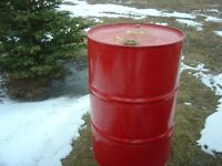 Metal barrels, burning, garbage, storage, tree lots, fire pits