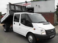 62 REG FORD TRANSIT CREW D/CAB 125PS ONE STOP DROPSIDE TIPPER, 75K MILES, CLEAN!