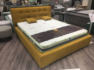 QUEEN QUILTED BED - HUGE STORAGE - MADE IN EUROPE