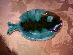 RARE - ONE OF A KIND SECOND - BLUE MOUNTAIN POTTERY - FISH DISH