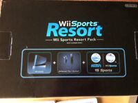 Wii sports resort, console with all accessories.