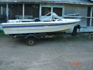 BOAT,14ft runabout with trailer. PRICE UPDATE JUN 2016