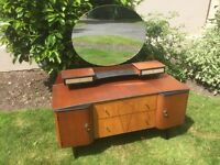 Vintage 1950s shabby chic dressing table with mirror. Can deliver.