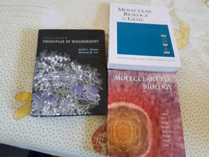 Three biochemistry/biology text books