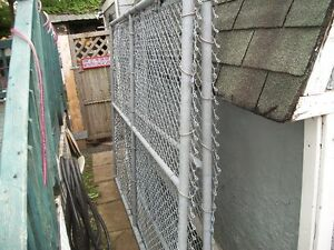 2   large  metal framed  gates