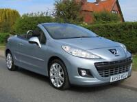 2009 Peugeot 207 1.6 HDi GT 2DR TURBO DIESEL CONVERTIBLE ** 35,000 MILES * LO...