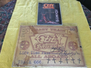 RARE OZZY OSBOURNE  SIGNED TOUR EXCLUSIVE  LITHOGRAPH