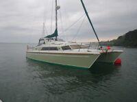 Stunning PROUT 37 catamaran sailing yacht liveaboard