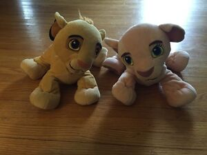 Lion king Simba and Nala stuffed toys