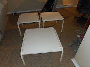 Set of 2 end table and 1 centre table