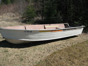 Two 14' Deep & Wide Aluminum Boats-Great on Big Water