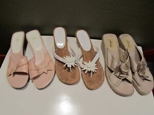 Assorted women's sandals in size 9.5