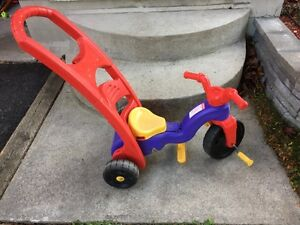 Fisher-Price tricycle with push handle Kingston Kingston Area image 1