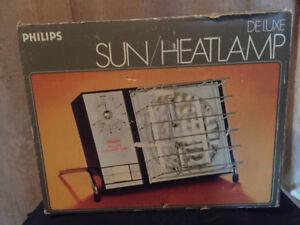 Vintage 70's Philips Deluxe Lampe chaleur/soleil Sun/heat lamp