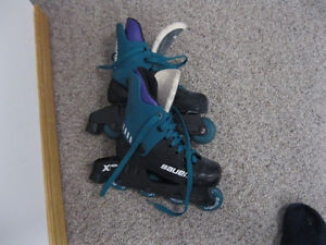 FOR SALE: Pair of Bauer (unisex) roller blades (size - youth 1)