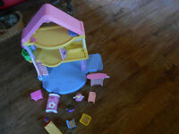 little people doll house and furniture