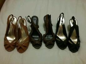 Job lot of 3 pairs of sandles size 5