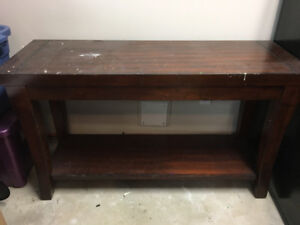 Solid wood entrance or side table
