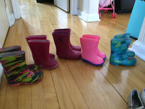 Rain boots and shoes
