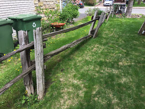 Antique Farm Style Fence Wood