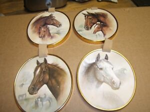 4 VINTAGE HORSE PICTURES TO HANG ON WALL