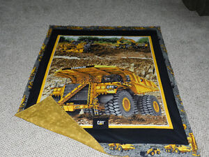 for sale a New Big BIG CAT TRUCK QUILT WITH FLANNELETTE BACK