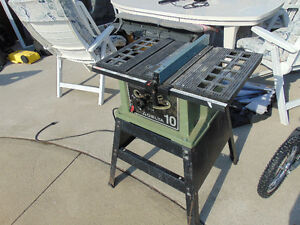 1 delta table saw left by old owner of house works very well ask