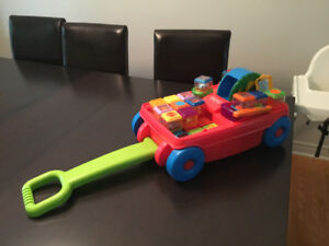 Fisher Price musical wagon with peek a boo blocks